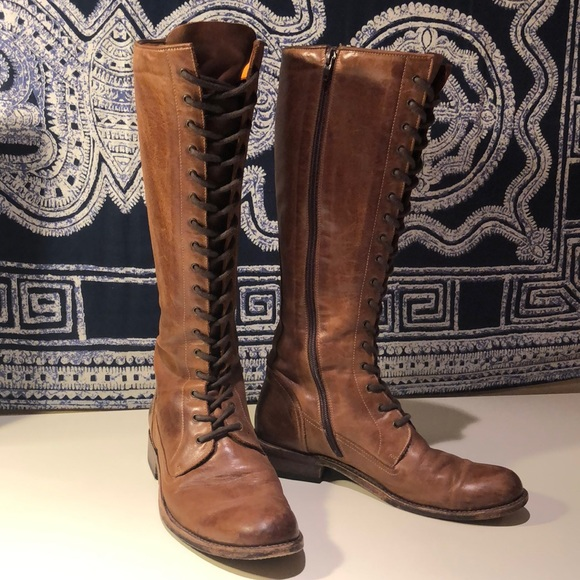 f14399f383f8 Frye Shoes - Frye Melissa Tall Lace Leather Riding Boot